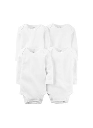 Carters Carter'S Layette 4'Lü Bebek Body 126G776 Beyaz